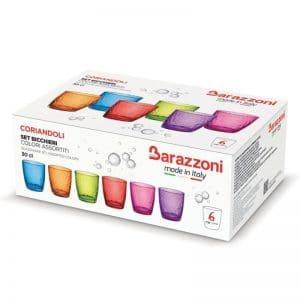 Barazzoni set 6 bicchieri Coriandoli