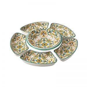 Brandani - Cena Fredda Medicea set 6 pezzi ceramica