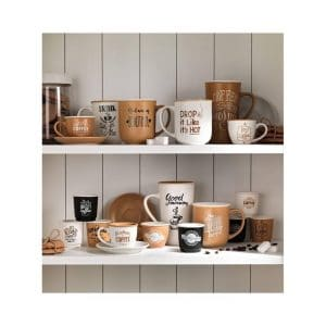 Brandani - Big Mug colori e decori assortiti Set 2 Set New Bone China