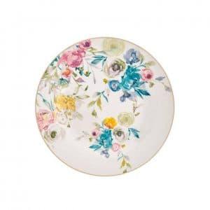 Brandani - Servizio Piatti Porcellana New Bone China 18 Pezzi Paradise