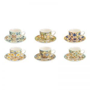Brandani set 6 tazzine caffè Medicea in new bone china