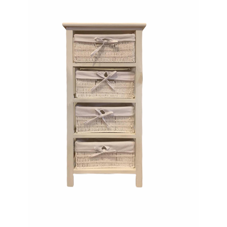 Master Casa - Mobiletto con 4 Cassetti - Living Box : Bergamo
